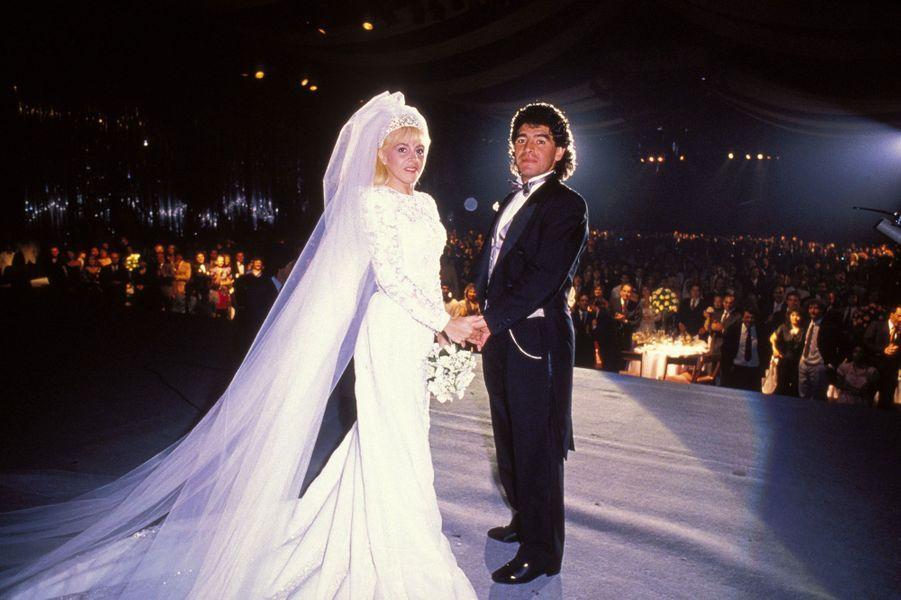 DiegoMaradonaet Claudia Villafane se marient le 7 novembre 1989.