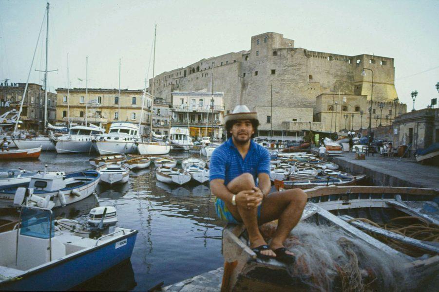 Diego Maradona à Naples en 1984.