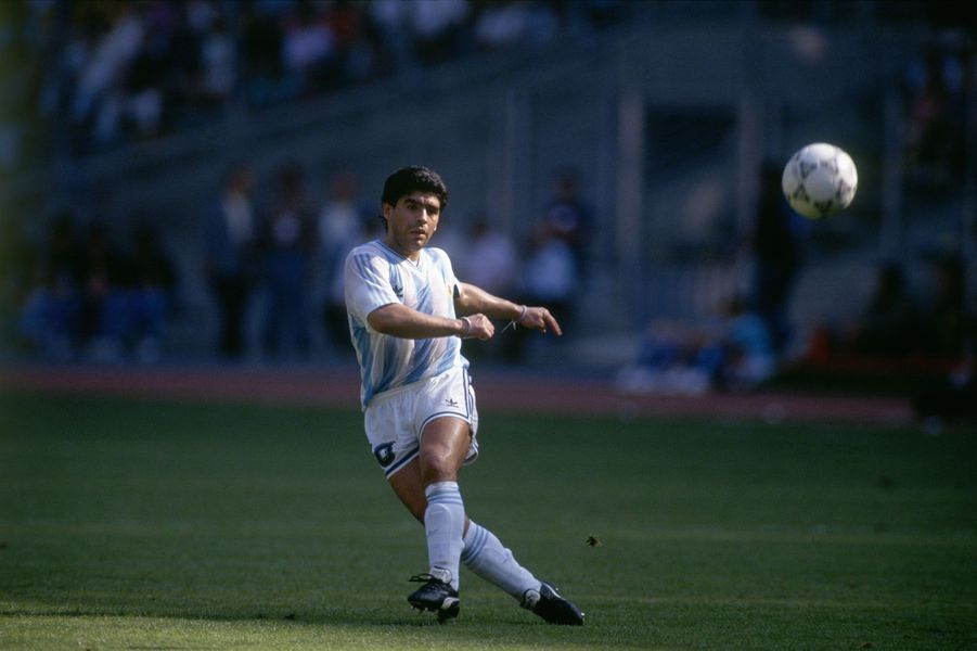 Diego Maradona lors de la Coupe du Monde 2010.