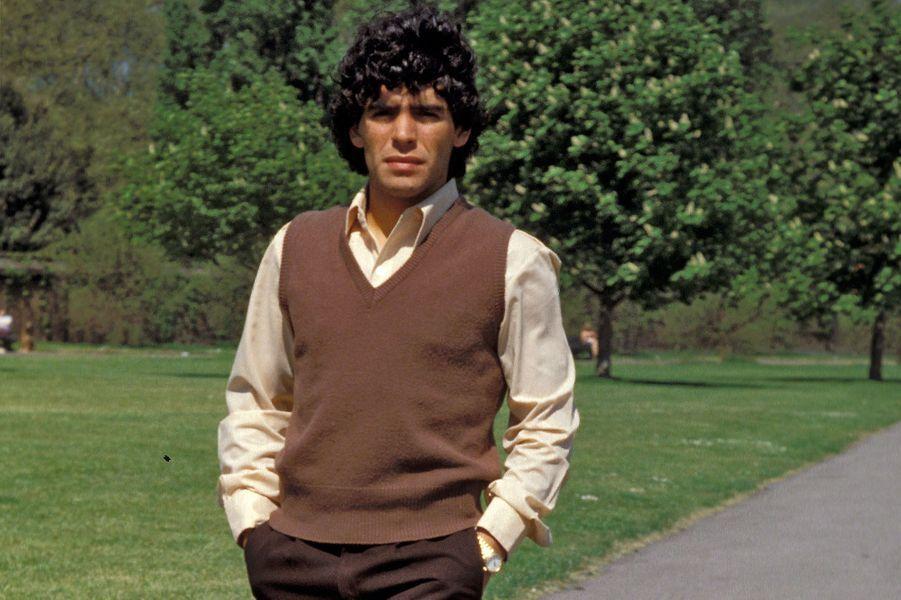 Diego Maradona en 1980.