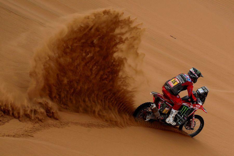 Ricky Brabec sur sa Honda.