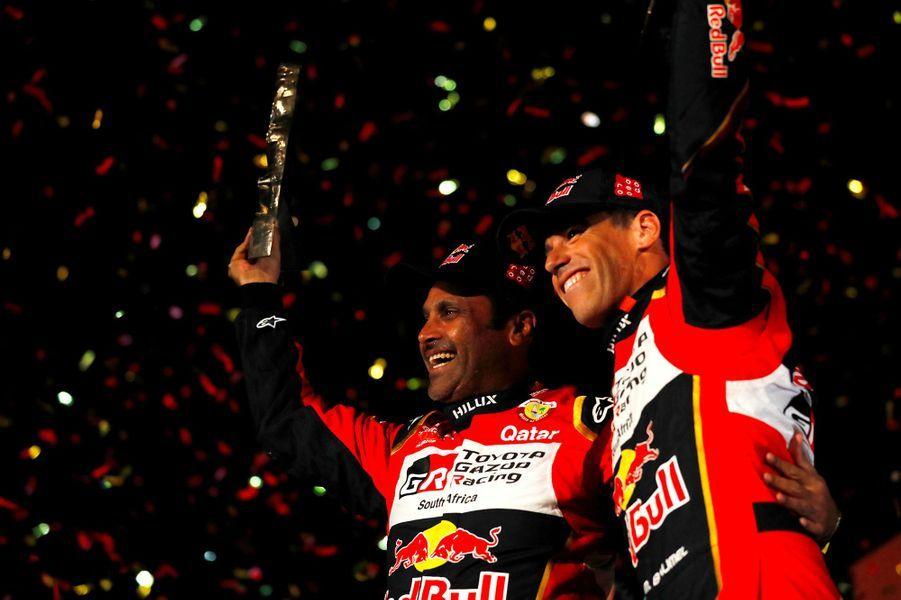 Nasser Al-Attiyah et Matthieu Baumel.