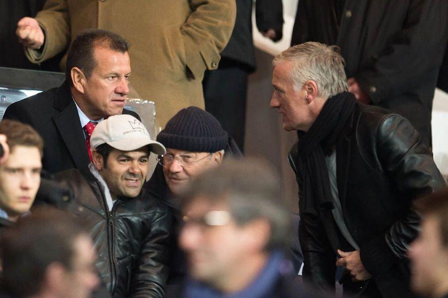 Dans les tribunes du Stade de France le 17 février 2015
