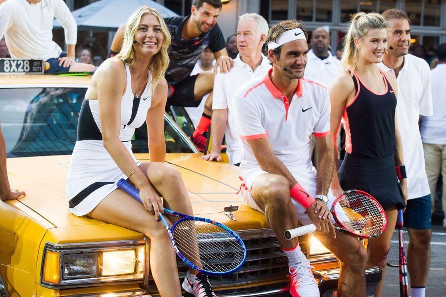 Les stars du tennis à New York pour l'événement Nike Street Tennis