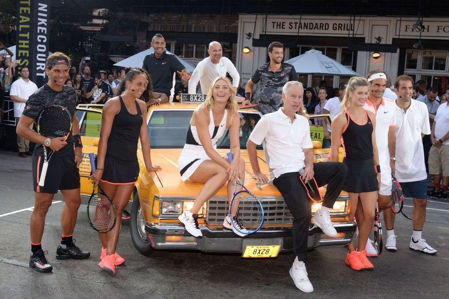 Les stars du tennis réunies à New York pour l'événement Nike Street Tennis