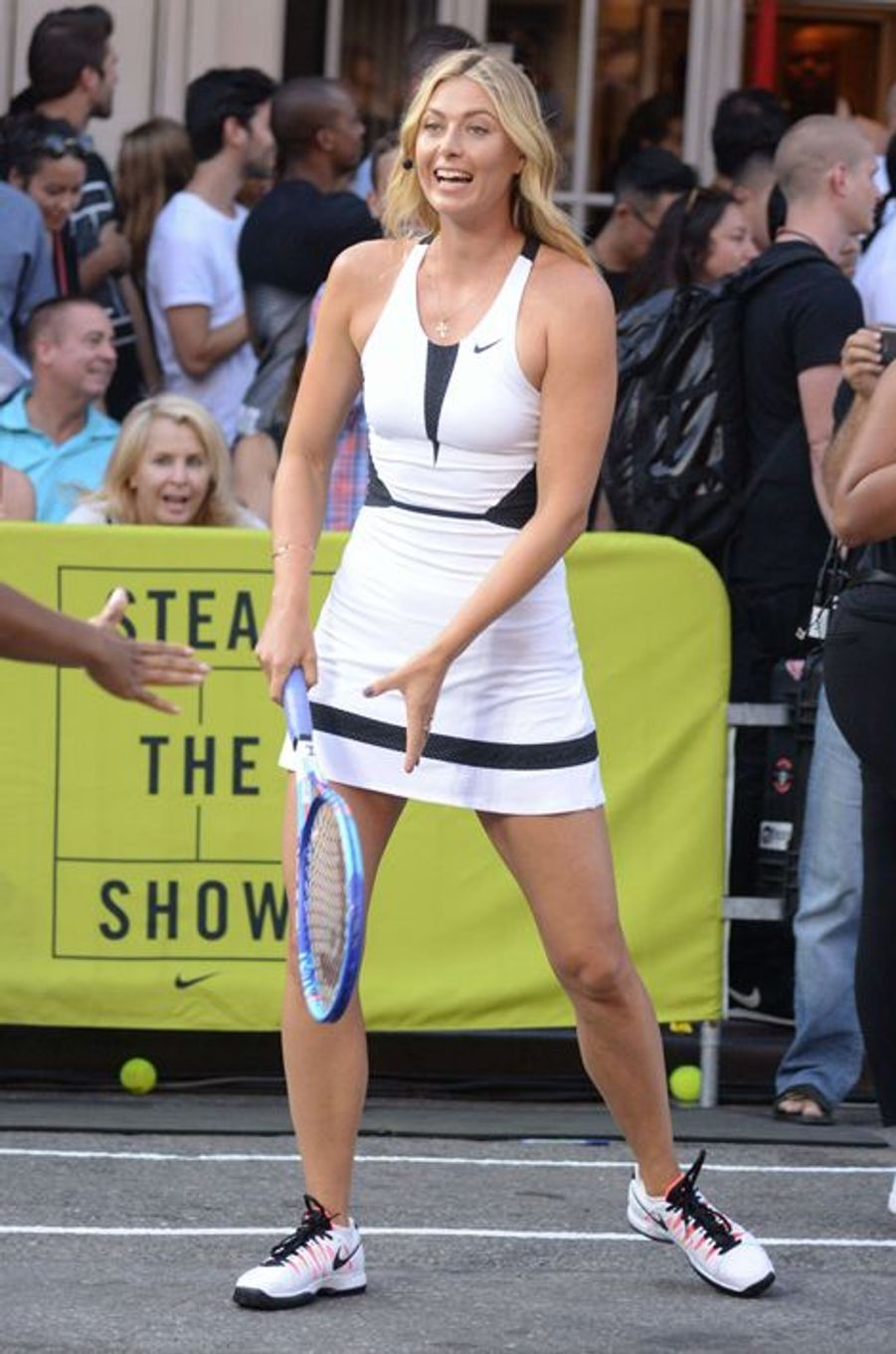 Maria Sharapova à New York pour l'événement Nike Street Tennis