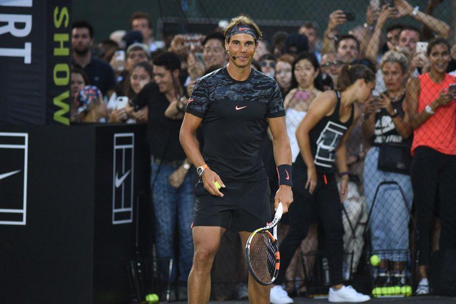 Rafael Nadal à New York pour l'événement Nike Street Tennis