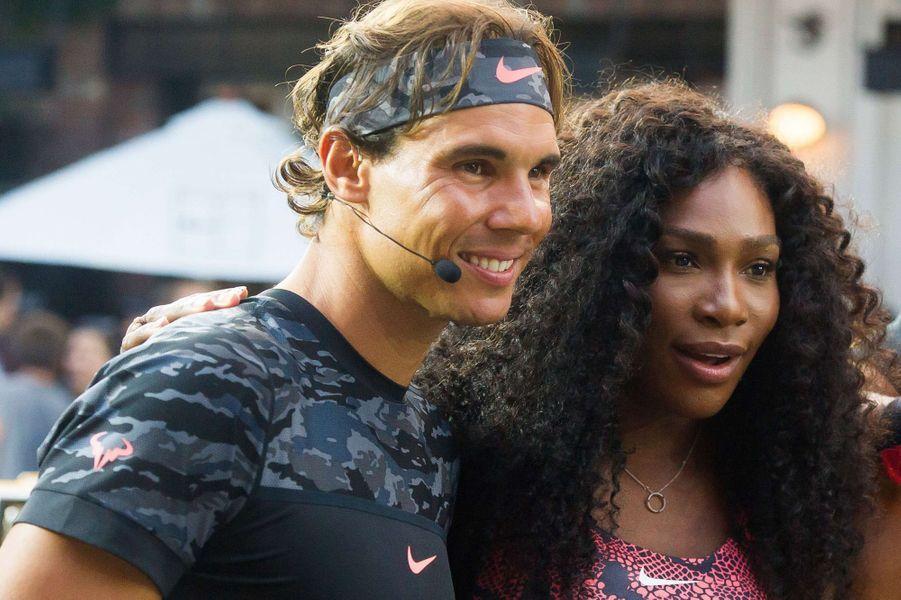 Rafael Nadal et Serena Williams à New York pour l'événement Nike Street Tennis