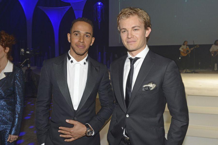 Janvier 2014, salon de la Haute Horlogerie à Genève, avec Nico Rosberg