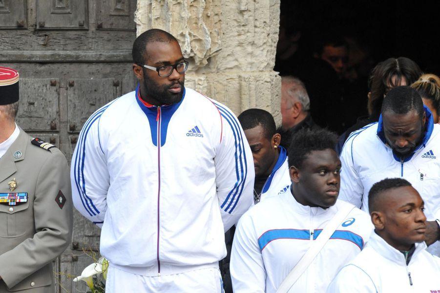 Teddy Riner aux obsèques d'Alexis Vastine le 25 mars à Pont-Audemer