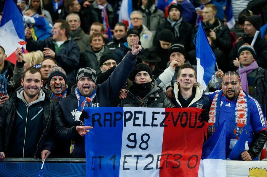 Ces supporters français étaient optimistes même si la mission était difficile.