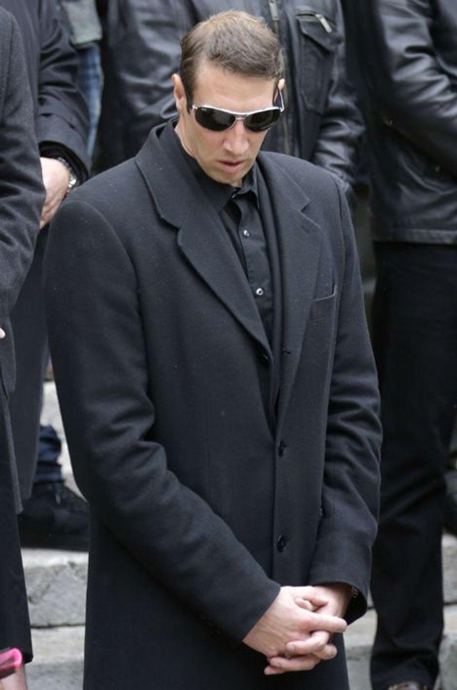 Alain Bernard aux obsèques de Camille Muffat, le 25 mars à Nice