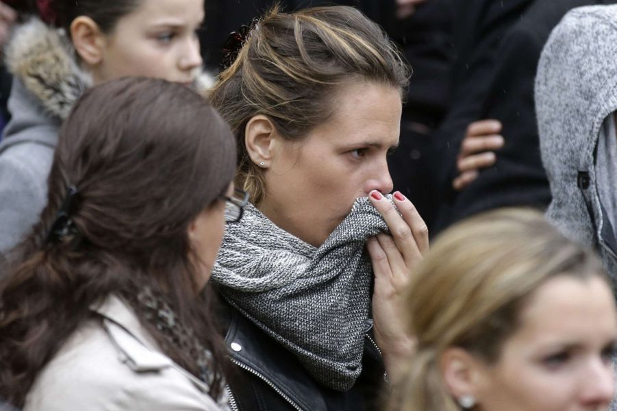 Laure Manaudou aux obsèques de Camille Muffat, le 25 mars à Nice
