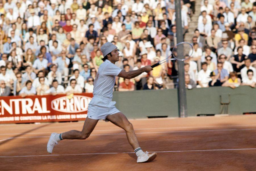 1970, Georges Goven sur le court