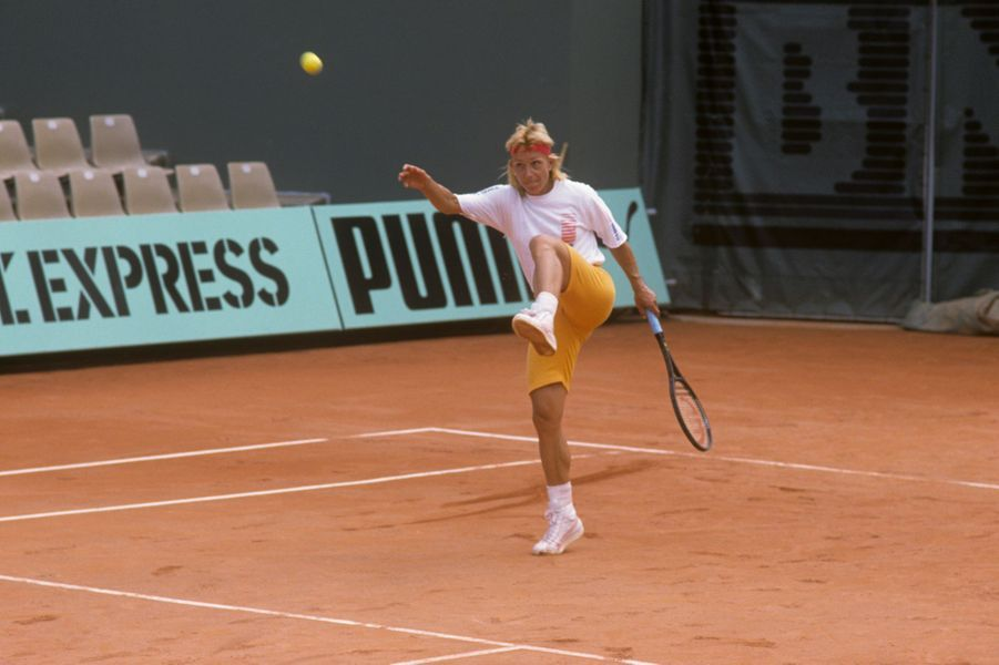 1988, Martina Navratilova sur le court