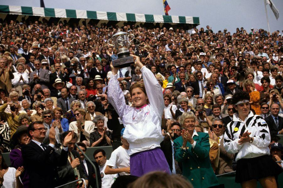 1991, Monica Seles remporte le simple dame