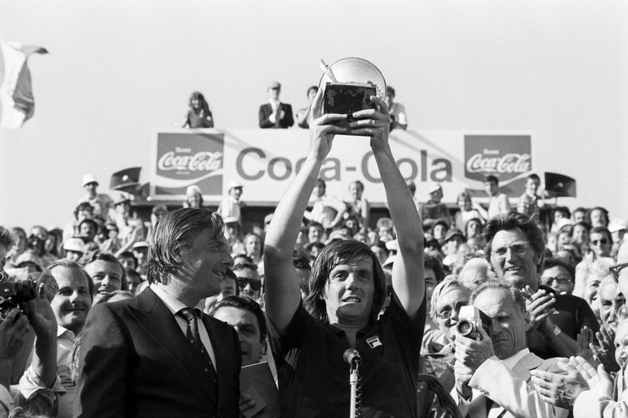 Juin 1976, l'Italien Adriano Panatta vainqueur