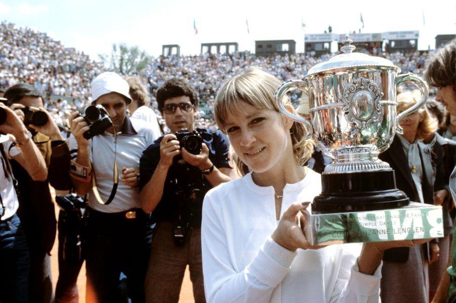 Juin 1979, Chris Evert-Lloyd remporte la finale pour la troisième fois