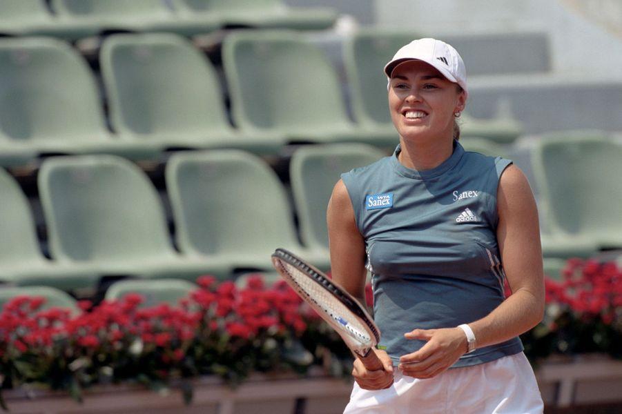 Mai 2001, Martina Higgins sur le court