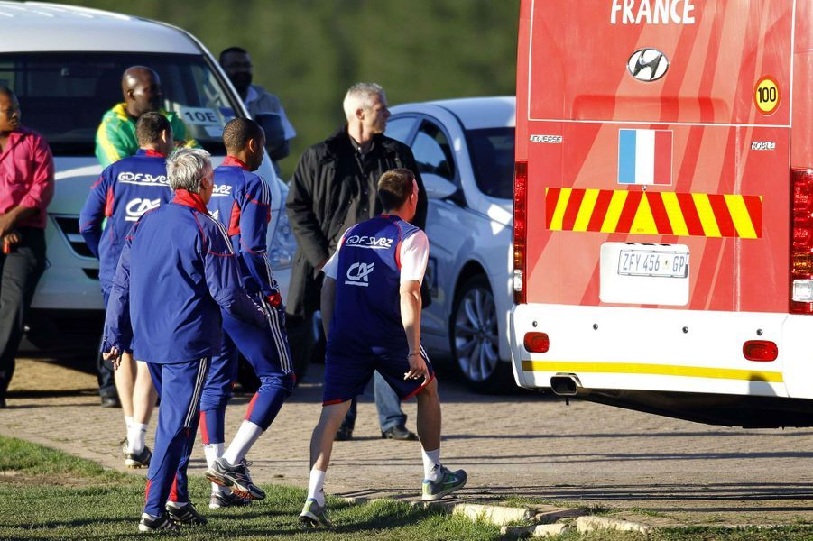 2010... le triste épisode du bus des Bleus, en Afrique du Sud