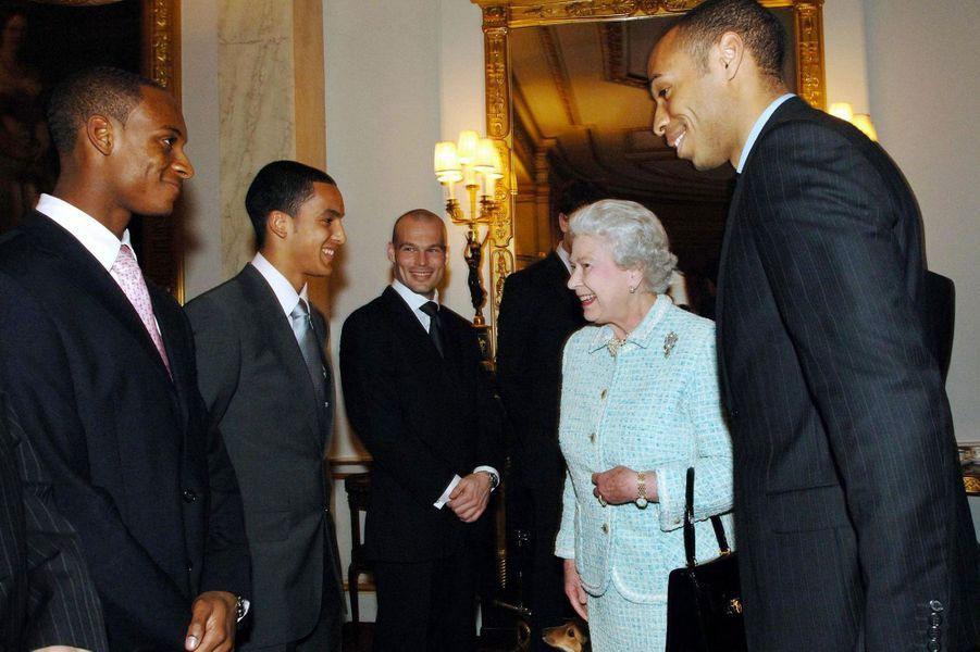 Avec la reine d'Angleterre en 2007