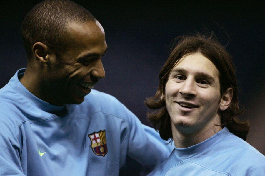 Avec Lionel Messi