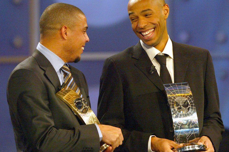 Avec Ronaldo, en 2003, classé troisième meilleur joueur Fifa du monde