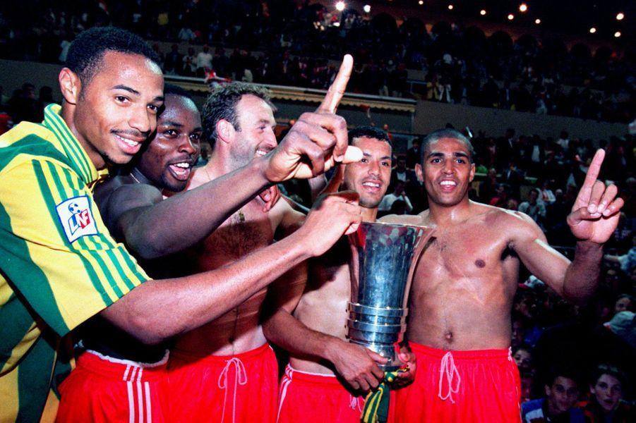 Champions de France en 1997 avec Monaco