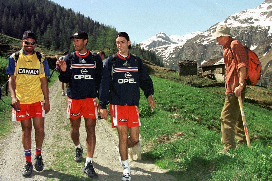 En stage de préparation à Tignes, en 1998