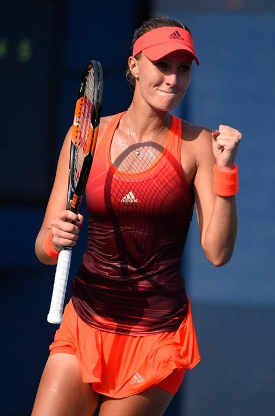 La tenniswoman française Kristina Mladenovic lors de son match du 2ème tour à l'US Open 2015 mercredi 2 septembre