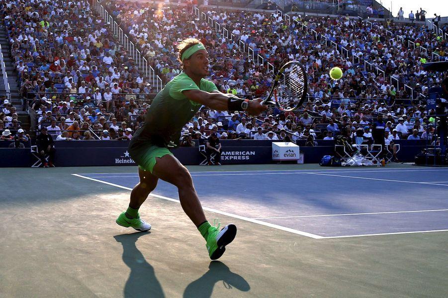 Rafael Nadal lors de son match du 2ème tour mercredi 2 septembre