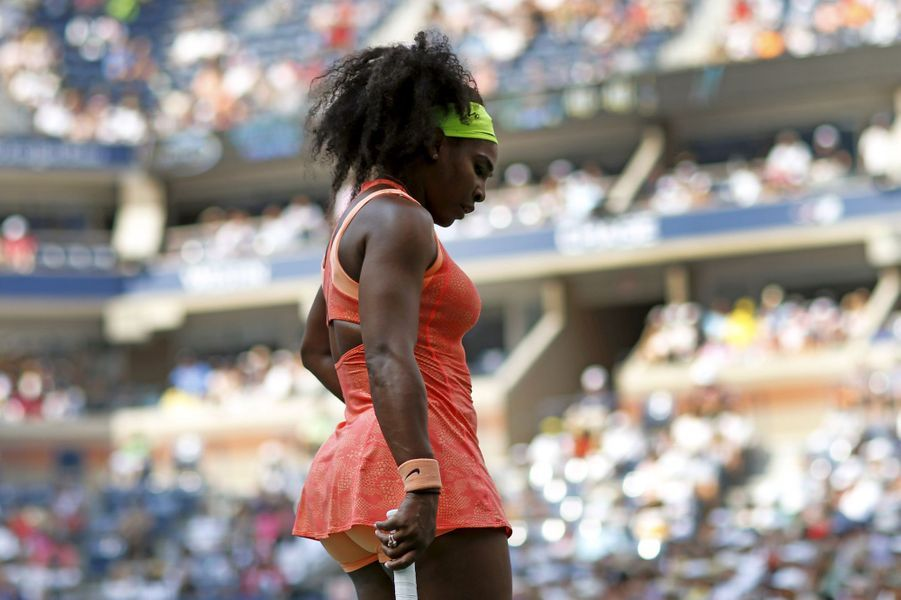 Serena Williams dispute son match du 2ème tour contre Kiki Bertens à l'U.S. Open mercredi 2 septembre