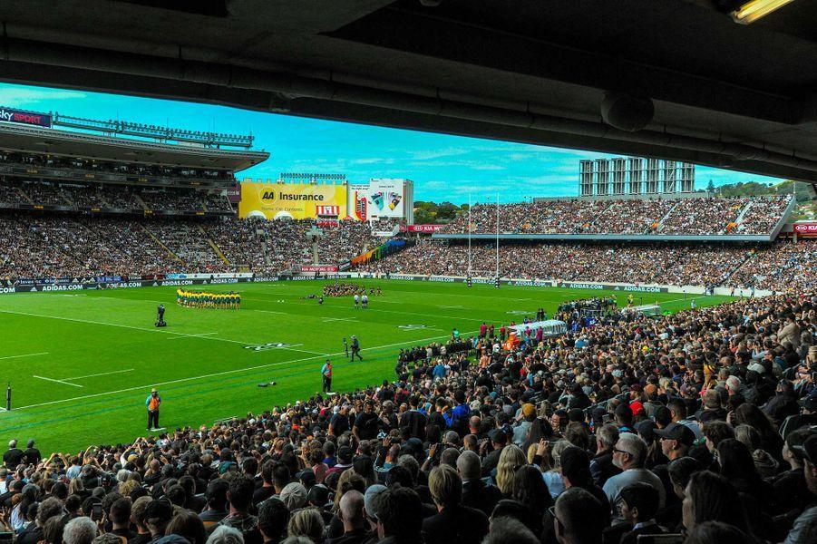 Le stade de l'Eden Park, à Auckland, était plein pour le match opposant les All Blacks aux Wallabies, le 18 octobre 2020.