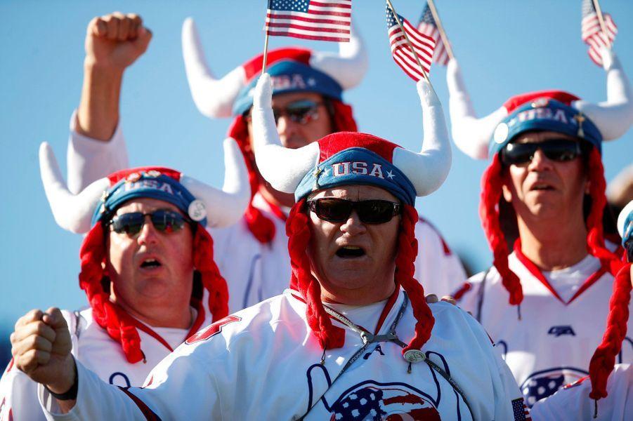 Les supporters de l'équipe des Etats-Unis, mercredi au Golf National.