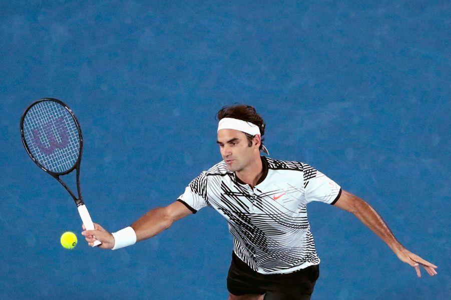 Roger Federer à la volée