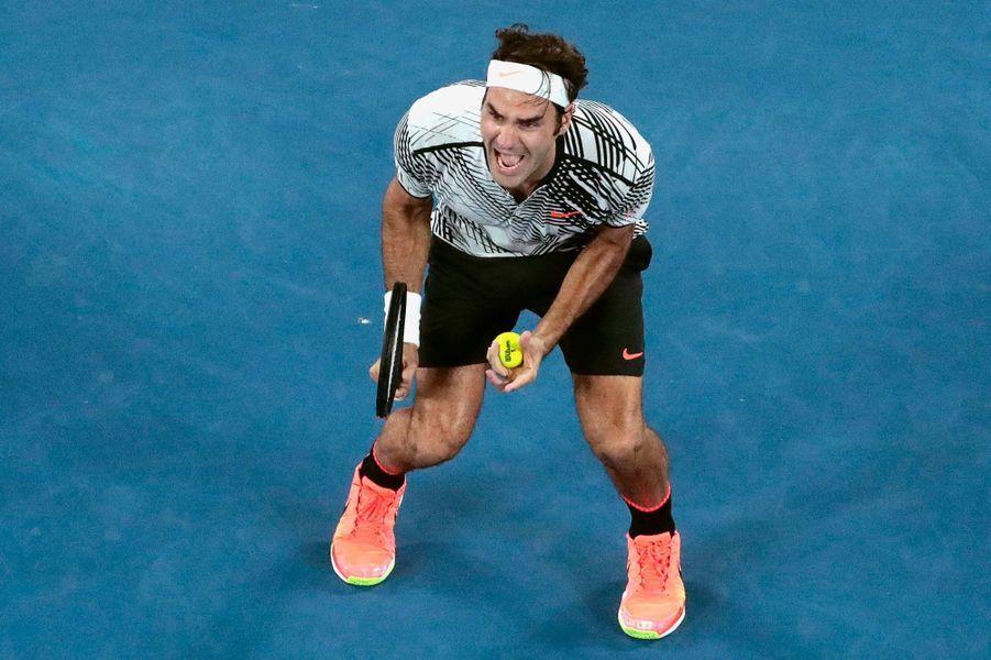 La joie de Roger Federer