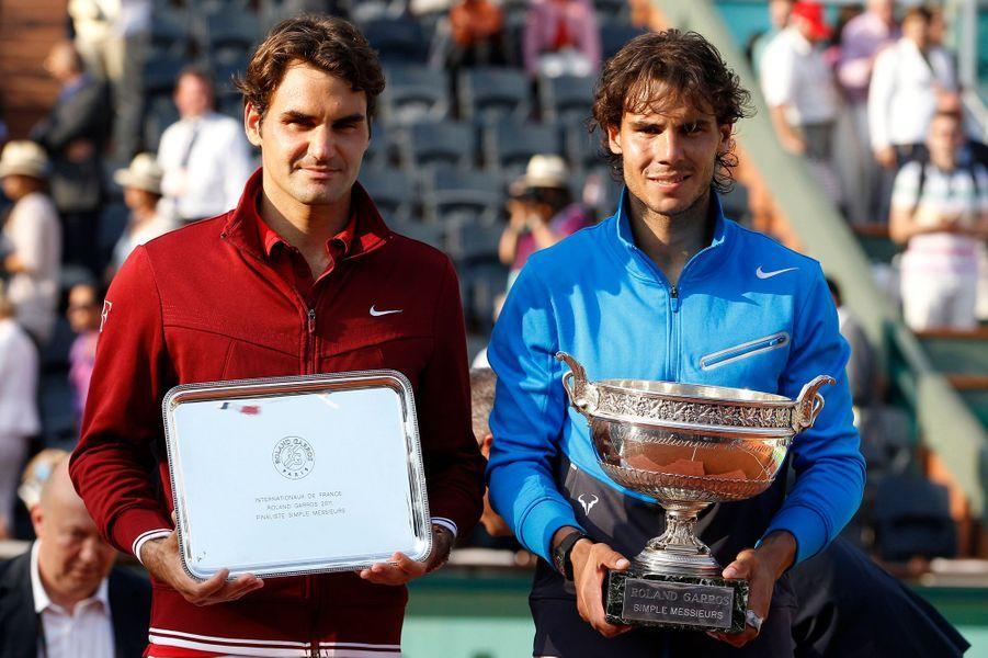 Rafael Nadal domine une nouvelle fois Roger Federer en finale de Roland-Garros, cette fois-ci en 2011.