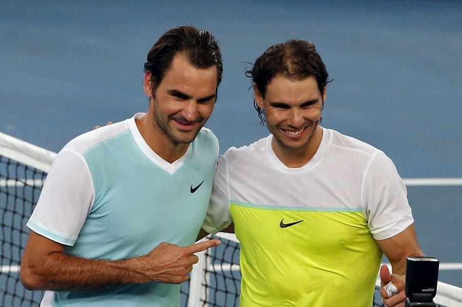 Les deux joueurs, tout sourire, en décembre 2015.