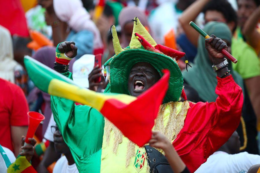 Des supporters sénégalais avant la finale de la CAN.