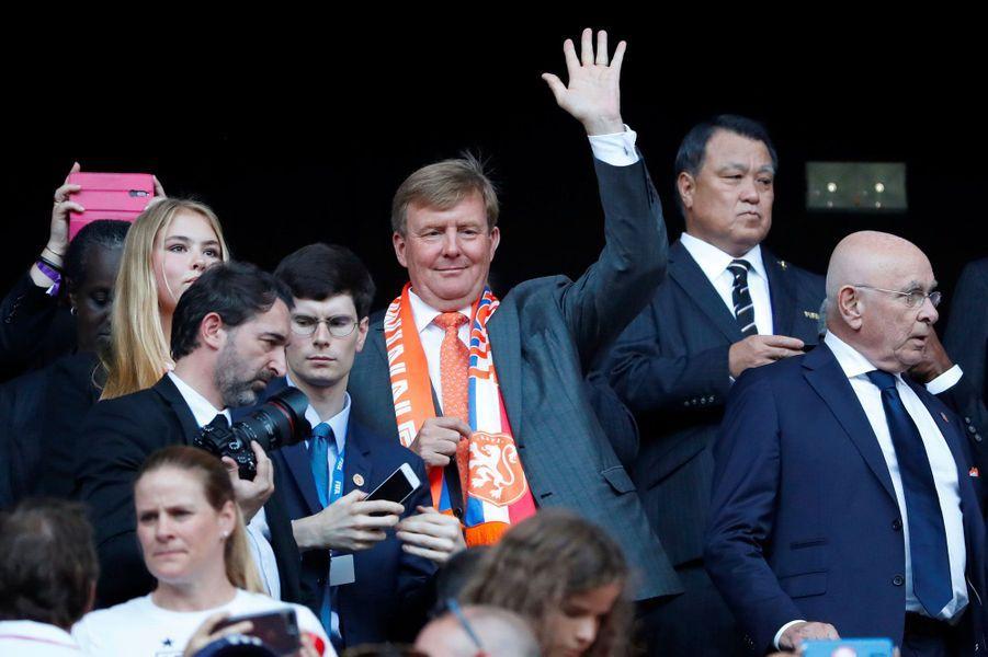 Le roi Willem-Alexander dimanche à Lyon.