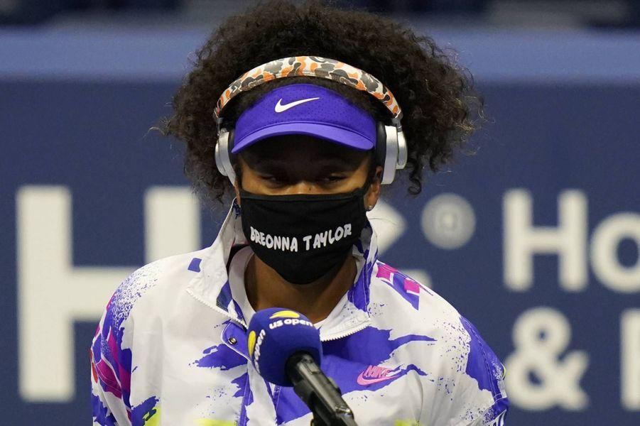 Naomi Osaka portant un masque rendant hommage à Breonna Taylor, le 31 août 2020.