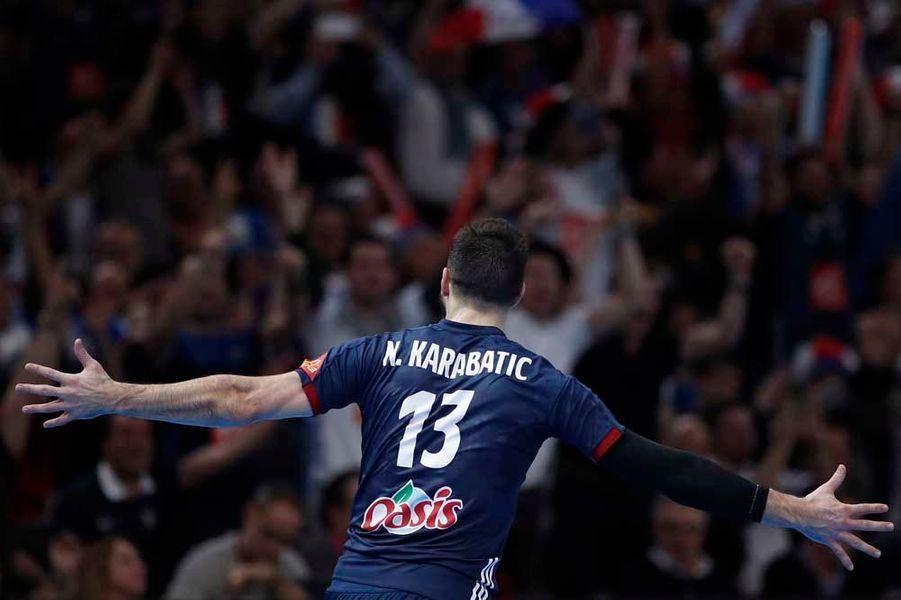 Nikola Karabatic lors de la finale des championats du monde.