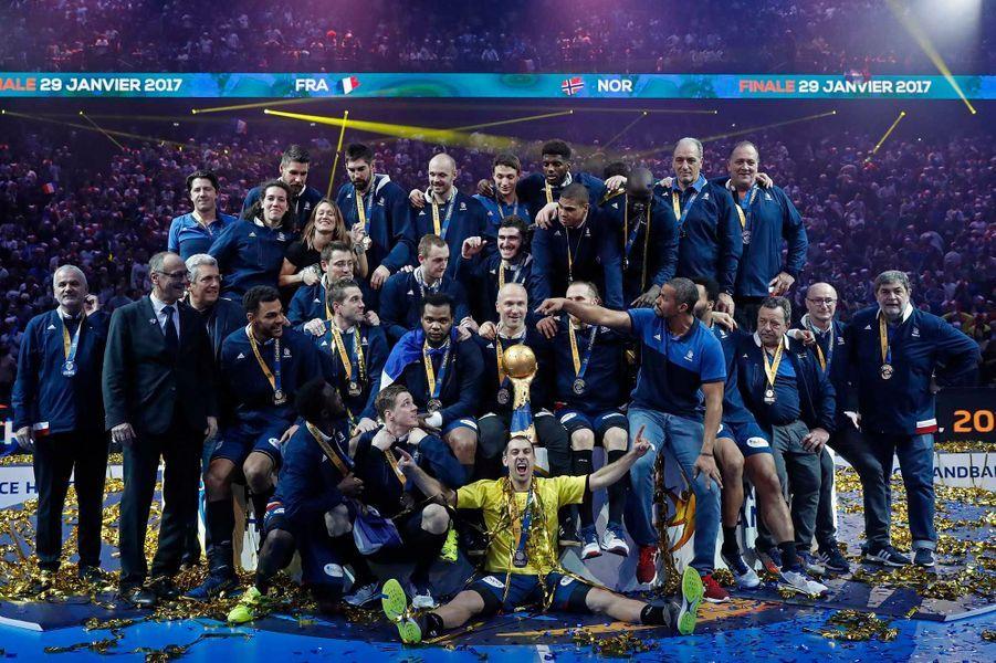 Les Français fêtent leur sixième titre de champions du monde.