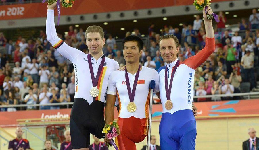 Le champion paralympique d'Athènes a remporté le bronze en poursuite individuelle (cyclisme).