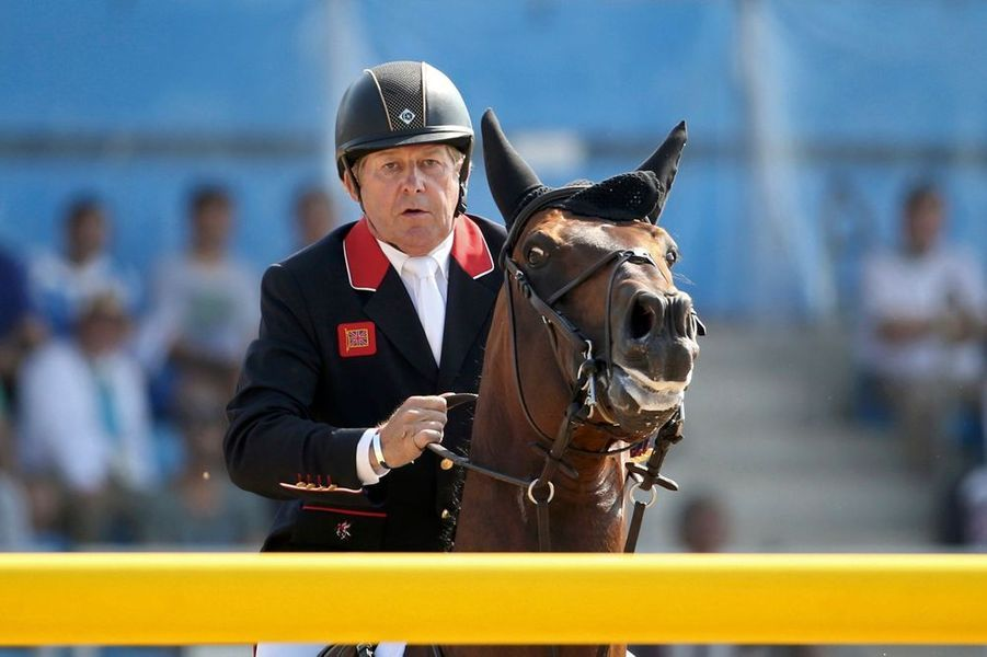 Le Britannique Nick Skelton, champion olympique à 58 ans.