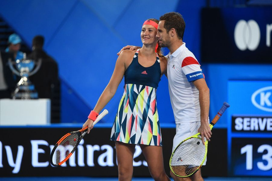 Kristina Mladenovic et Richard Gasquet ont remporté, pour la France, la Hopman Cup, le 7 janvier 2017.