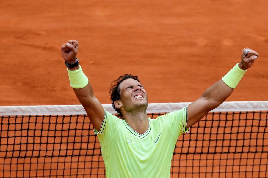 Rafael Nadal lors de son triomphe à Roland-Garros en 2019.