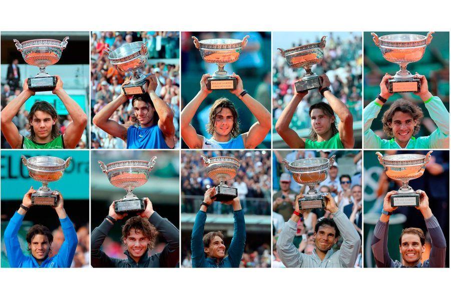 L'évolution physique de Rafael Nadal, roi de Roland-Garros...