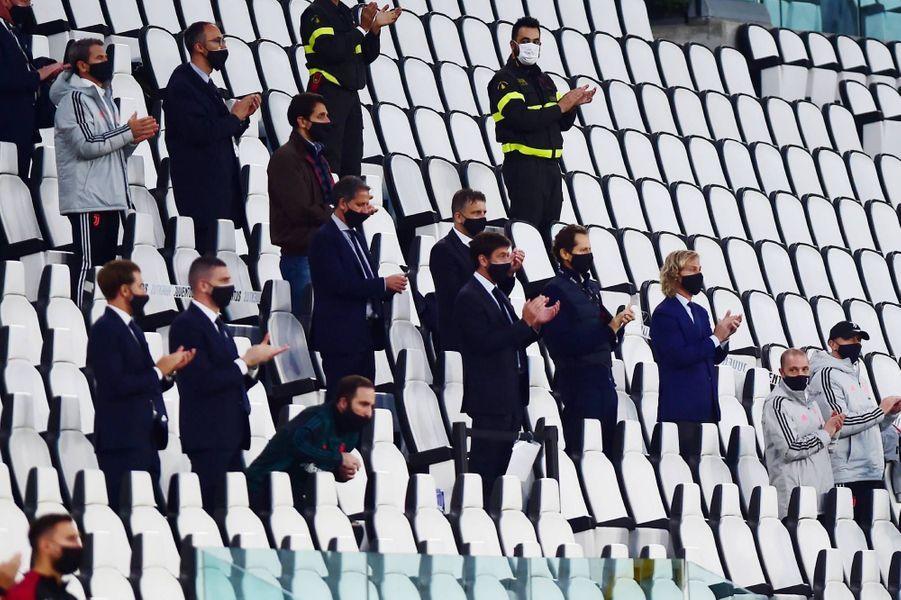 Plus de trois mois après l'arrêt des compétitions face à l'avancée du coronavirus, la Juventus a éliminé l'AC Milan à Turin, le 12 juin 2020.