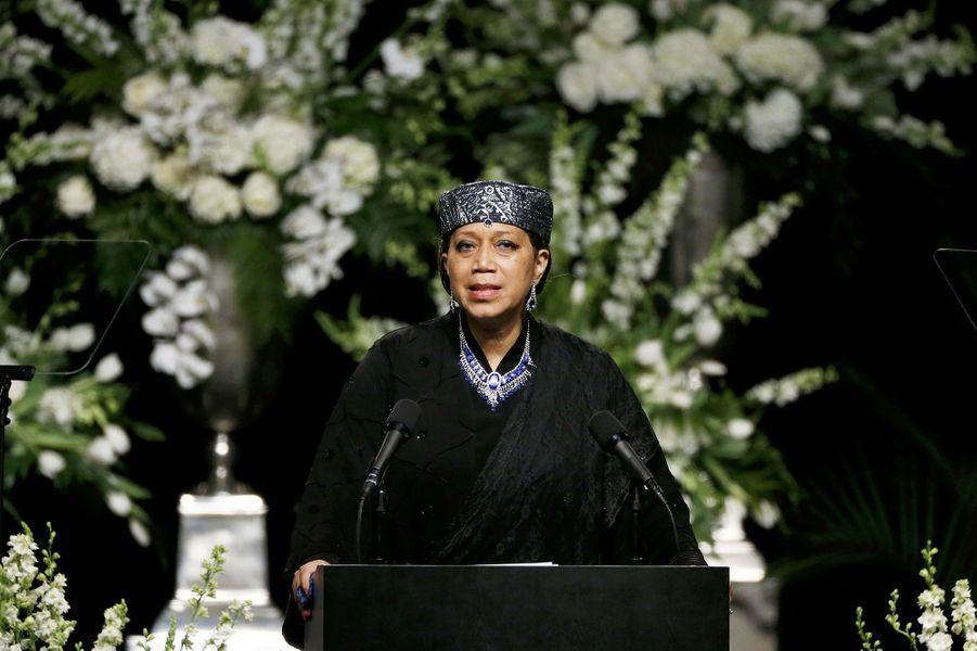 Attallah Shabazz, la fille de Malcolm X, assiste à l'hommage rendu à Mohamed Ali à Louisville, le 10 juin 2016.